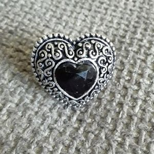💎Black/Gray  Heart Ring Jewelry